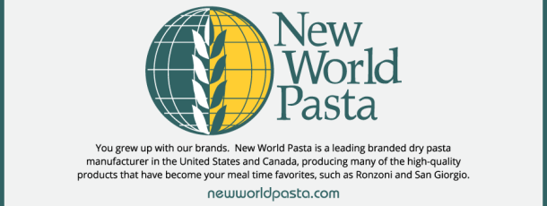 Welcome to Our 2015 Sponsor – New World Pasta