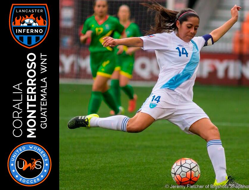 Coralia Monterroso lancaster inferno uws united women's soccer pro am league