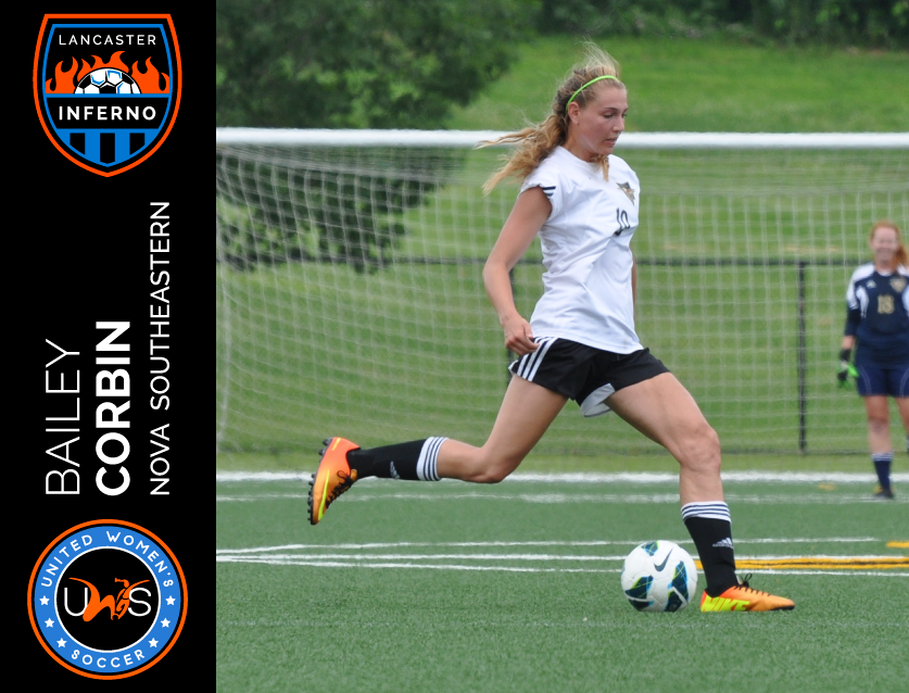 Bailey Corbin Signs to Play With Lancaster Inferno Pro-Am Women's Soccer UWS League