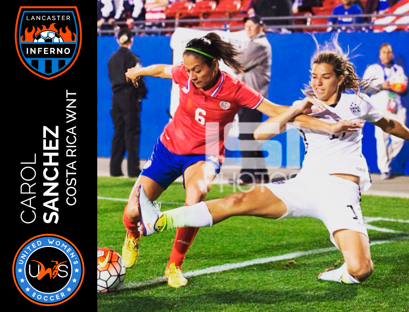 Carol Sanchez Signs to Play With Lancaster Inferno Pro-Am Women's Soccer UWS League