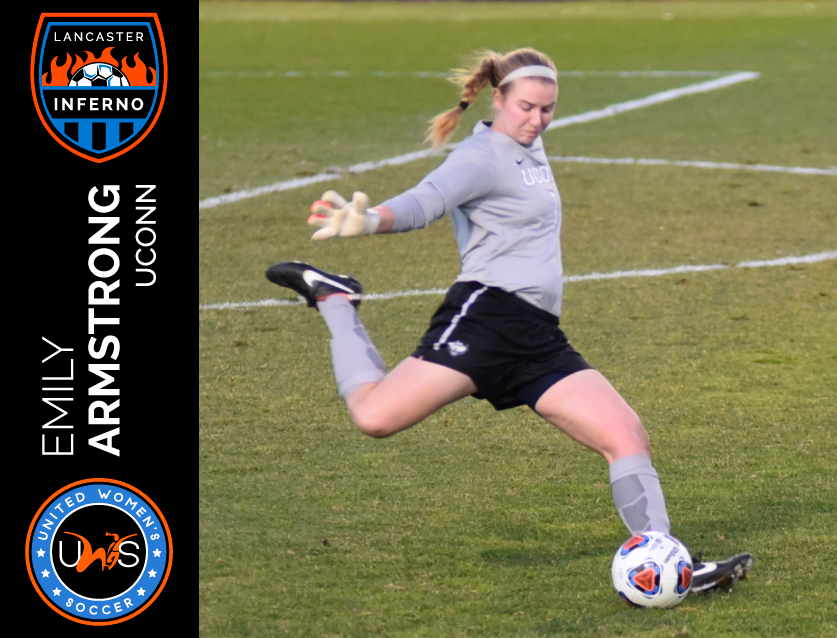 Emily Armstrong Signs to Play With Lancaster Inferno Pro-Am Women's Soccer UWS League