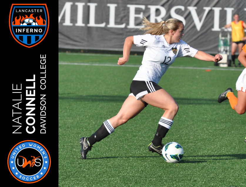 Natalie Connell Signs to Play With Lancaster Inferno Pro-Am Women's Soccer UWS League