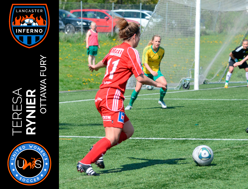 Teresa Rynier Signs to Play With Lancaster Inferno Pro-Am Women's Soccer UWS League