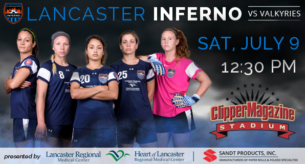lancaster inferno pro am women's soccer pennsylvania clipper magazine stadium barnstormers