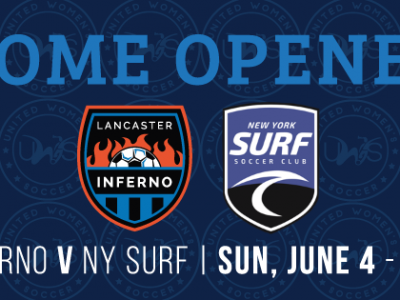 Lancaster Inferno vs New York Surf Home Opener Women's Soccer UWS