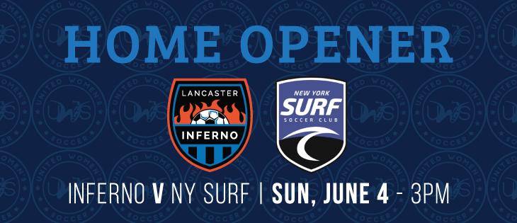 Lancaster Inferno vs New York Surf Home Opener Women's Soccer UWS
