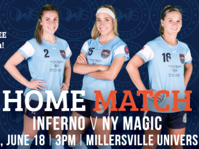 Lancaster Inferno vs NY Magic United Women's Soccer Game Pennsylvania UWS