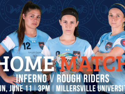 Lancaster Inferno vs Long Island Rough Riders United Women's Soccer Game Pennsylvania UWS