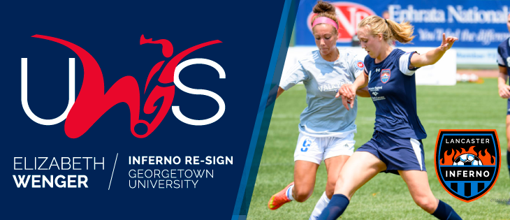 Elizabeth Wenger Soccer Player Lancaster Inferno United Women's Soccer UWS Signing Georgetown University Hoyas Pennsylvania