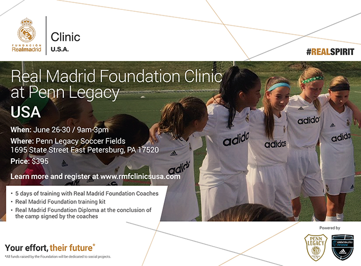 Penn Legacy FC Football Soccer Pennsylvania Lancaster Inferno Youth Club Partner Real Madrid Foundation Clinic RMFC