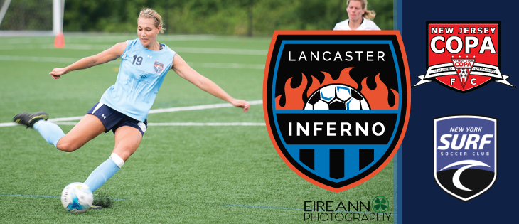 Lancaster Inferno vs NY Surf NJ Copa FC Women's Soccer Game Recap Pennsylvania UWS