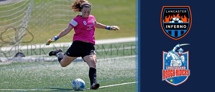 Lancaster Inferno vs LI Rough Riders Women's Soccer Game Recap Pennsylvania UWS Kirk Neidermyer