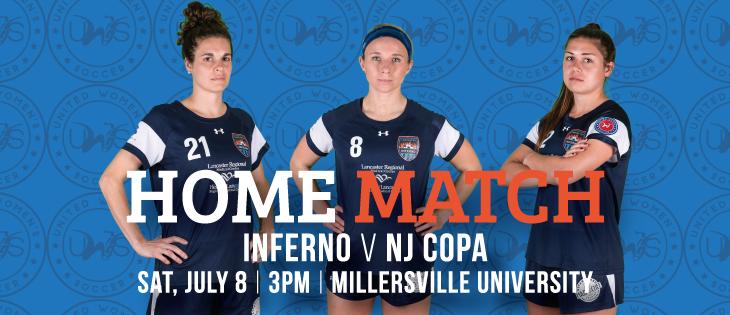 Lancaster Inferno vs NJ Copa FC United Women's Soccer Game Pennsylvania UWS