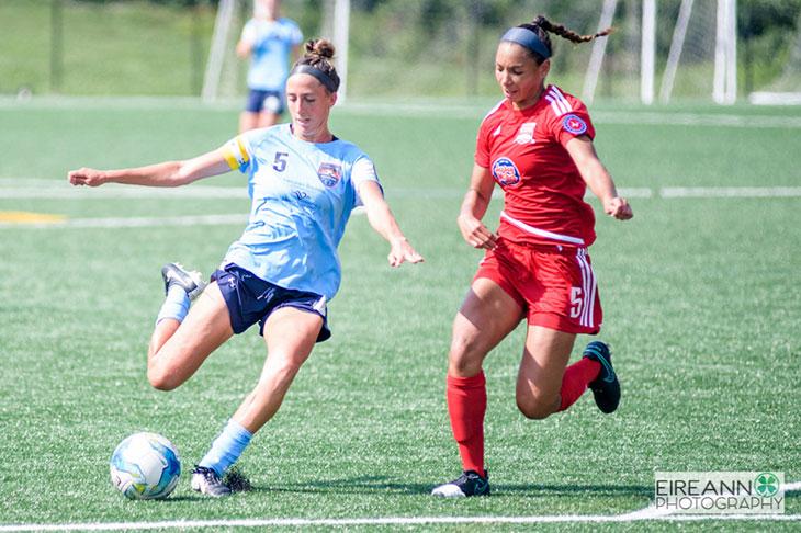 Lancaster Inferno vs NJ Copa FC Women's Soccer UWS Tesa McKibben SFU