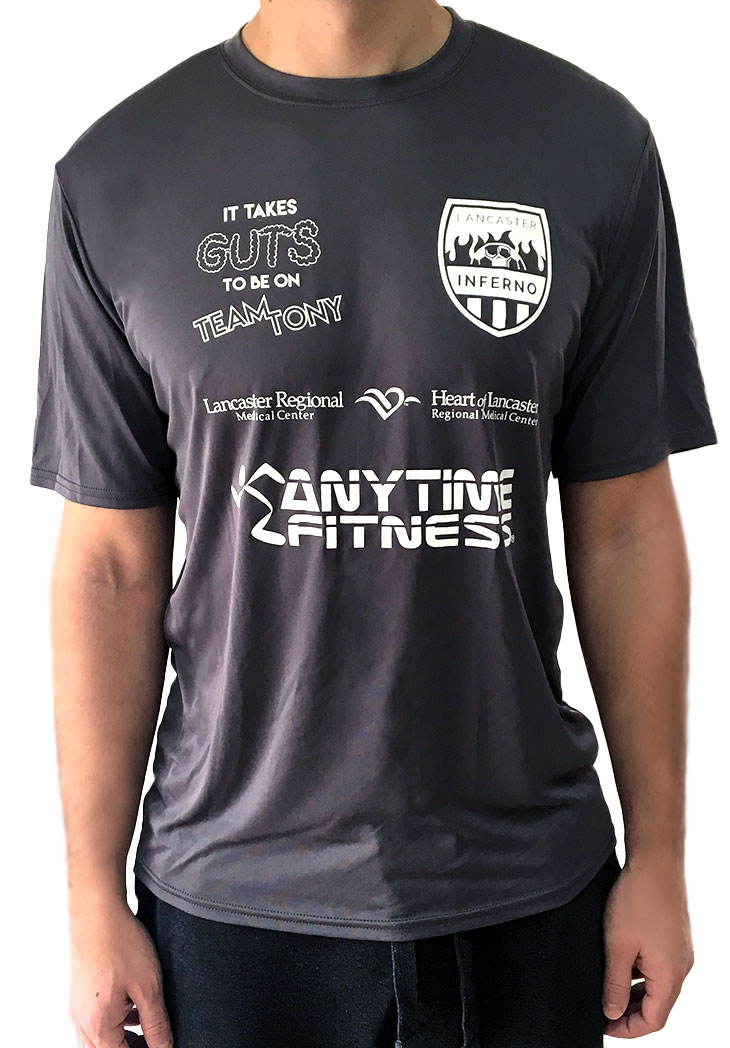 lancaster inferno apparel tees t-shirt pennsylvania pa women soccer team Tony Forte Antonio Forte Transplant Fund
