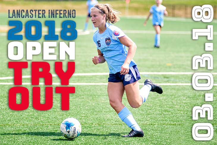 lancaster inferno women's soccer 2018 tryouts top level amateur pennsylvania uws league