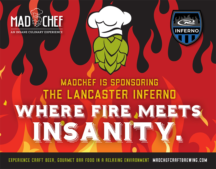 Mad Chef Craft Brewing Lancaster Pennsylvania Lancaster Inferno Rush Women's Soccer Bee